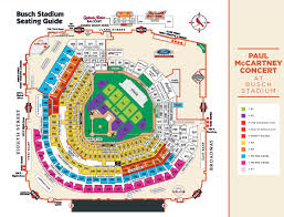 Seating Chart For Paul Mccartney Paul Mccartney Performing At Busch Stadium In August