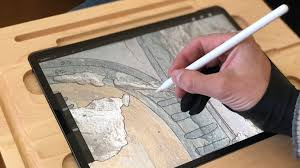 Drawing On Ipad Pro Wooden Canvas Smart Board Drawing Desk For The New 2018