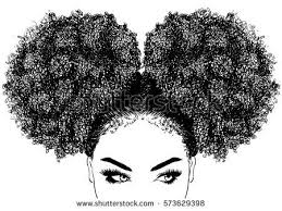 Black Woman With Curly Hair Buy This Vector On Shutterstock Find