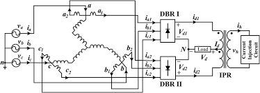 schematic diagram of the proposed 12 pulse diode bridge rectifier schematic diagram of the proposed 12 pulse diode bridge rectifier current injection circuit at