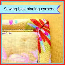 Turning corners with bias binding - So Sew Easy & Turning corners with bias binding. How to get nice neat, sharp and even  corners Adamdwight.com