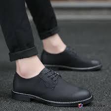 dress shoes men all match leather shoes summer british black