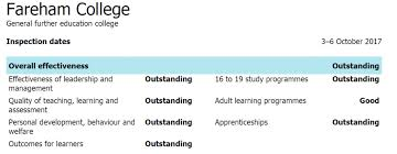 Ofsted reports for adult colleges