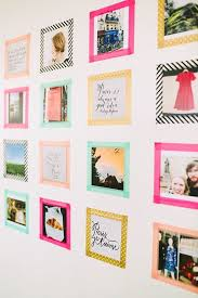 No wear and tear on your walls AND it comes in all colors and patterns so  that when you tape the border of the paper it will frame it!