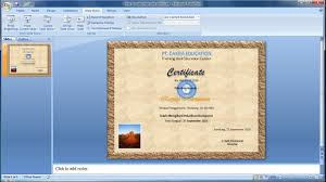 Microsoft Powerpoint Certificate Template Powerpoint Training How To Make Your Own Certificate In Powerpoint