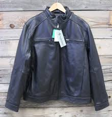 boston harbour mens new zealand lambskin leather er jacket black xl new