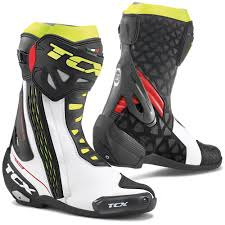Tcx Boots Size Chart Tcx Rt Race Track Day Road Racing Boot White Red Fluoro Yellow