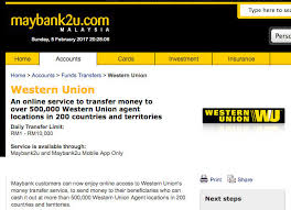 Supports Maybank2u You Western Now Transfer Do Know That Online Union