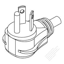 Usa canada nema 7 15p 2 p 3 wire grounding elbow ac plug