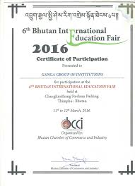 Certification Ganga Technical Campus