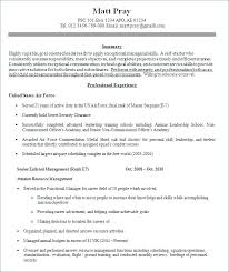 Example Military Resume Unique Examples Of Military Resumes Resume Ideas Pro