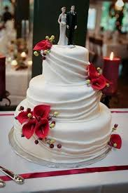 Red Calla Lily Wedding Cake Design 2 Wedding Cake Cake Ideas By