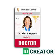 Free Id Badge Template Paramedic Id Cards Cheap Photo Id Card Idcreator