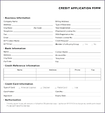 application for credit account template credit card application template credit application account template
