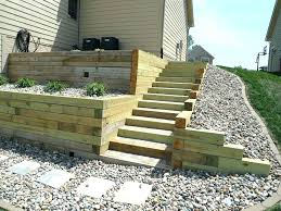 landscape timbers build timber retaining wall 6x6