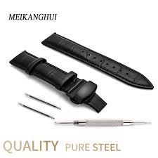 18mm 20mm <b>22mm</b> 24 Universal Wrist Soft Calf Genuine Leather ...