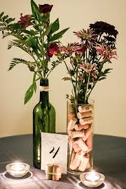 diy wine-themed centerpieces