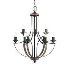 9 light chandelier portfolio linkhorn iron stone black candle 9 light chandelier es aged black portfolio river brushed nickel