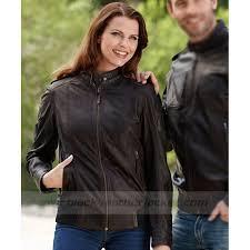 biker motorrad bmw heritage leather jacket for womens