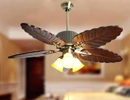 wood ceiling fan with light modern style wood palm leaf ceiling fan light living room ceiling