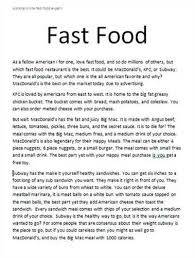 american fast food essay fast food in a american culture essays