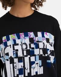 Sweater Logo Design Black Iceberg Sweater With Abstract Checkered Logo Design