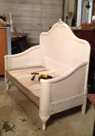 Bench Out Of Headboard Bed Reinvented Headboard And Footboard Used To Make Bench Also