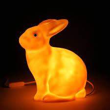 lamp lapin bunny rabbit white childrens room