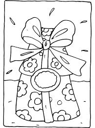 Kleurplaat Cadeautje Met Strik Kleurplatennl