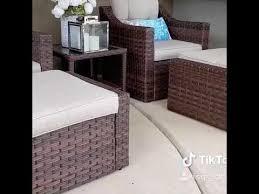 5 piece wicker patio furniture sets