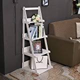 Wooden Ladder Display Stand Amazon 100 Tiered Rustic Torched Wood AFrame Ladder Shelving 31