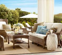 coastal style patio design with pottery barn summer summer pillow pottery barn outdoor rugs