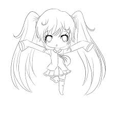 Chibi Anime Coloring Pages Cute Anime Girl Coloring Pages Free