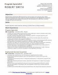 Sample Management Specialist Resume Program Specialist Resume Samples Qwikresume