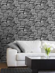 Wallpaper And Paint Living Room Grandeco Wallpaper Dax Stone Grey Lancashire Wallpaper And