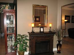 san marco 28in antique walnut electric fireplace cabinet mantel package