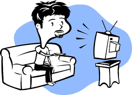 watching tv clipart black and white. watching tv clipart black and white t