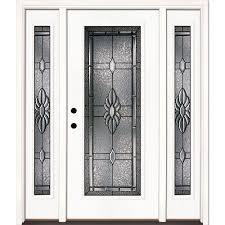 this review is from 67 5 in x 81 625 in sapphire patina full lite unfinished smooth right hand fiberglass prehung front door w sidelites