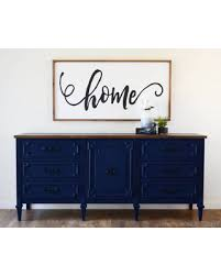 SOLD Navy Blue Media Console 6 Ft Triple Dresser Rustic Entertainment  Center Statement Rustic Entertainment Center M6