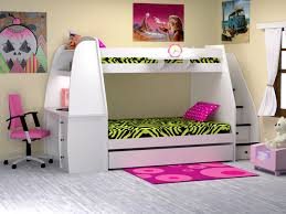 Attractive Bunk Bed With Slide And Desk Bunk Beds With Stairs And