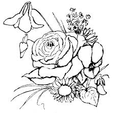 Flower Coloring Pages Free Download Best Flower Coloring Pages On