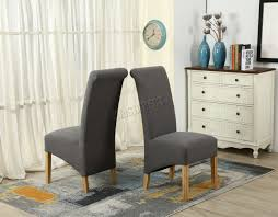 dining chairs fabric high back.