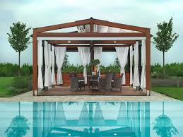 View in gallery Gorgeous pergola with a cool retractable roof