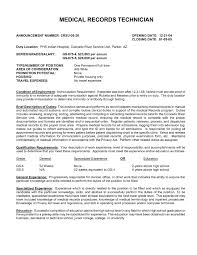 Medical Records Clerk Resume Sample medical records resumes Ninjaturtletechrepairsco 1