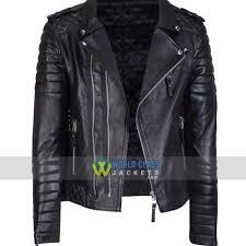 real biker new vintage original slim fit men s black leather jacket