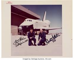 Image result for 1977–The first free flight of the Space Shuttle Enterprise
