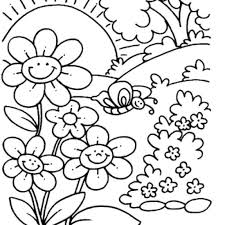 Spring Coloring Pages Free Printable Spring Coloring Pages For