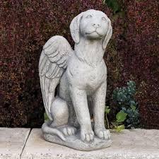 dog garden statue. Exellent Dog Dog Angel Fine Stone Statue In Garden E
