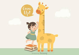 Vector Giraffe Growth Chart Download Free Vectors Clipart