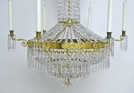 empire crystal chandelier with seven lights antiques ten circa antique